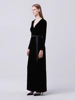 Diane von Furstenberg Julian Long Velvet Wrap Dress