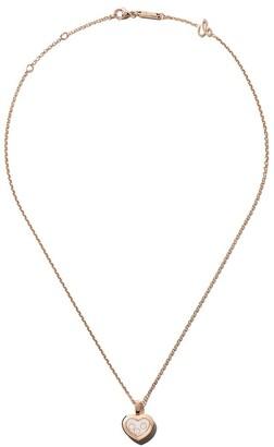 Chopard 18kt rose gold Happy Diamonds Icons pendant necklace