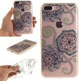 iPhone 7 Plus - Case, MerKuyom [Clear Transparent] [Slim-Fit] [Flexible Gel] Thin Soft TPU Case Skin Cover W/ Stylus For Apple iPhone 7 Plus , 7Plus (2016) – 5.5 inch (Flowers Petals Leaf)