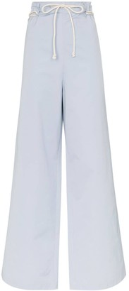 Ambush Rope-Fastening Wide-Leg Cotton Trousers