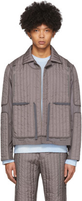 Craig Green Grey Quilted Skin Jacket