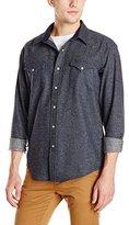 Pendleton Men's Fitted Canyon Shirt, Grey/Black Plaid, XXL
