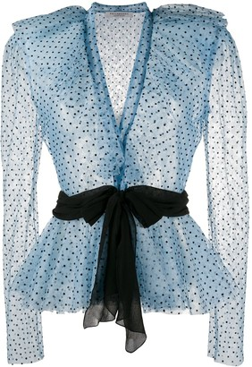 Philosophy di Lorenzo Serafini chiffon polka dot print blouse