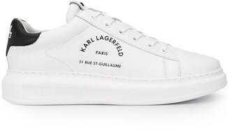 Karl Lagerfeld Paris Low Top Lace-Up Trainers