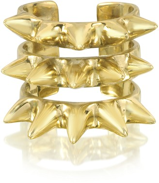 Bernard Delettrez Triple Band Bronze Ring w/Spikes