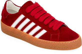 DSQUARED2 Men's Side-Stripe Suede Low-Top Sneakers