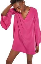 Topshop Women's Flute Sleeve Shift Tunic Dress