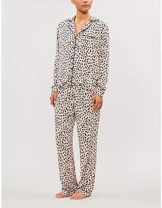 Rails Clara animal-print twill pyjama set