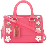 Furla floral embroidered tote - women - Leather/PVC/metal - One Size