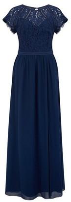 Dorothy Perkins Womens Little Mistress Navy Lace Maxi Dress