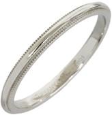 Tiffany & Co. Platinum Milgrain Wedding Band Size 8.75 Ring