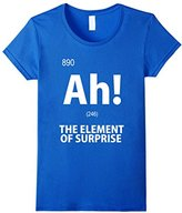 Element Women's Ah! The of Surprise T-Shirt Funny Chemistry Tee Small