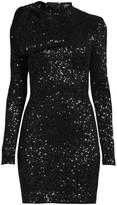 Rebecca Vallance Mica Long-Sleeve Sequin Mini Bodycon Dress