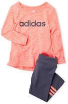 adidas Infant Girls) Two-Piece Melange Tee & Leggings Set