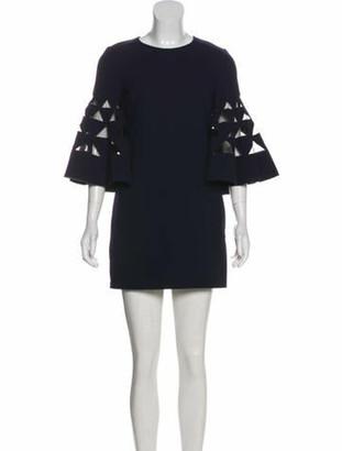 Oscar de la Renta 2018 Wool Dress Navy