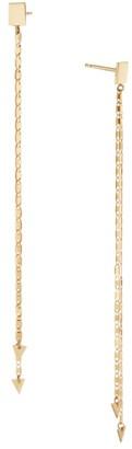 Lana Double Strand 14K Yellow Gold Linear Drop Earrings