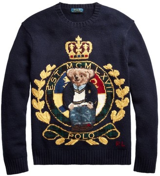 Polo Ralph Lauren Logo Crest Wool-Blend Sweater