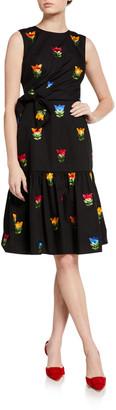 Carolina Herrera Bowed & Gathered Dress