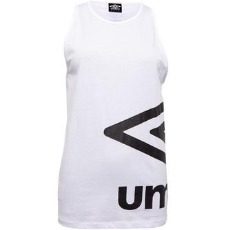 Umbro Womens Active Style Large Logo Vest White/Black
