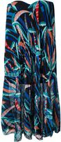 MSGM strapless printed pleated dress - women - Polyester/Spandex/Elastane - 42