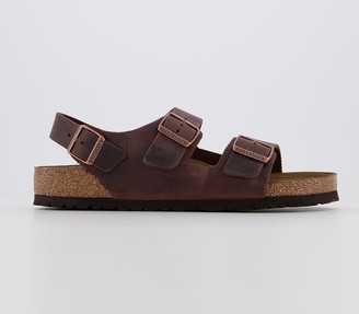 Birkenstock Milano Sandals Brown Oiled Leather