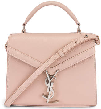 Saint Laurent Mini Cassandra Monogramme Bag in Marble Pink | FWRD