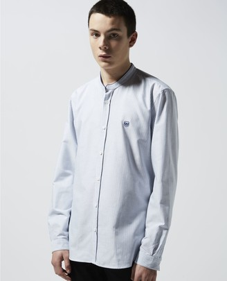 The Kooples Striped blue shirt with breast insignia