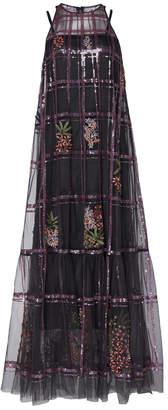 Rahul Mishra Tulle A-Line Sequin Dress