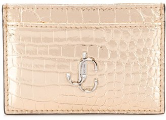 Jimmy Choo Umika crocodile-effect cardholder