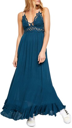 Free People Adella Lacy Maxi Slip Dress