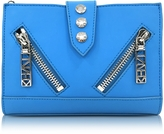 Kenzo Sky Blue Gommato Leather Kalifornia Wallet on Chain