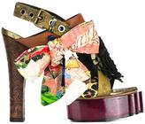Vivienne Westwood buckled platform sandals - women - Goat Skin/Viscose - 36