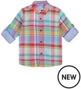 Ted Baker Boys' Multi-Coloured Checked Shirt