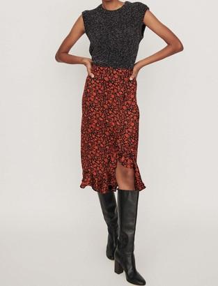 Maje Printed skirt
