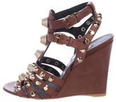 Balenciaga Embellished Wedge Sandals
