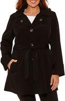 Liz Claiborne Belted Raincoat-Plus