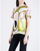 Emilio Pucci Abstract graphic-print silk top