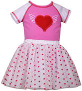 Bonnie Jean 2-pc Heart Bodysuit with Heart Print Tutu Set Baby Girls