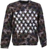Valentino Camustar Print Cotton Sweatshirt With White Stars
