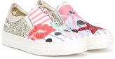 Simonetta paneled slip-on sneakers - kids - Goat Skin/Leather/PVC/rubber - 30