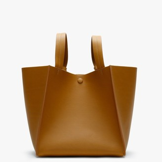 Sophie Hulme Cube Tan Leather Shoulder Bag