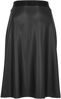 Wolford Estella black faux leather skirt