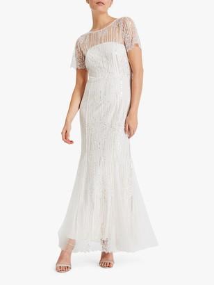 Phase Eight Bridal Phase Eight Leonora Wedding Dress, Almond