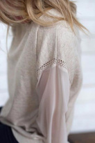 Heartloom Sheer Sleeve Sweater