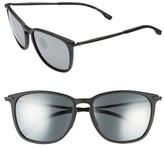 BOSS Men's 56Mm Sunglasses - Matte Black/ Black Mirror