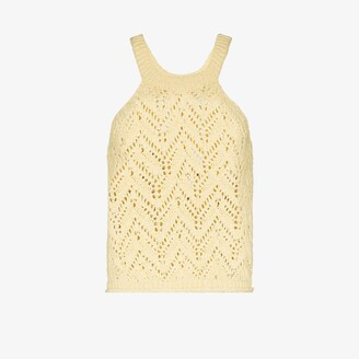 Missing You Already Scoop Neck Crochet Top