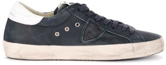 Philippe Model Paris Sneaker Made Of Blue Leather