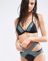 Quontum Sparkle Padded Triangle Bikini Top