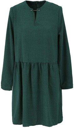 FRNCH Long Sleeve Spotted Short Dress