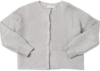 Stella Mccartney Kids Wool & Cotton Knit Cardigan